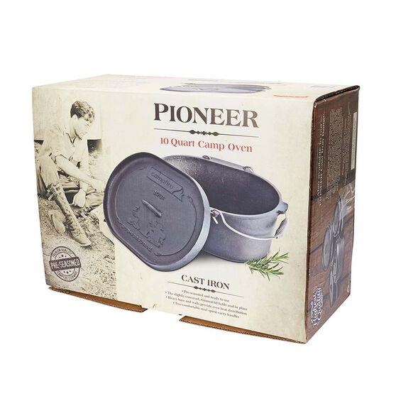 Pioneer Pre Seasoned Camp Oven 10 Quart, , bcf_hi-res