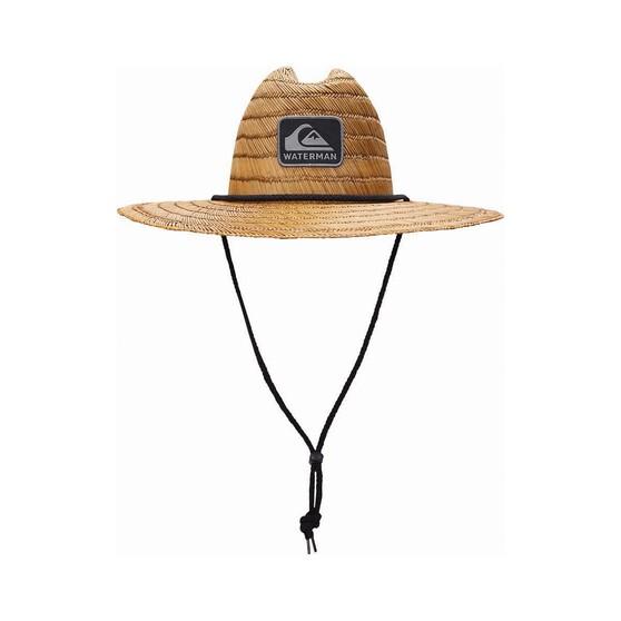 Quiksilver Waterman Men's The Tier Straw Hat, Dark Brown, bcf_hi-res