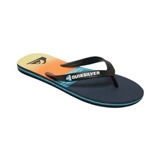 Quiksilver Waterman Men's Molokai Hold Down Thongs Black / Blue 8, Black / Blue, bcf_hi-res