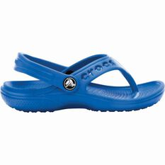Crocs Kids' Baya Flip Thongs Blue 2, Blue, bcf_hi-res