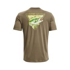 Under Armour Men's Bass Strike Graphic Tee Bayou / Thistle Green S, Bayou / Thistle Green, bcf_hi-res