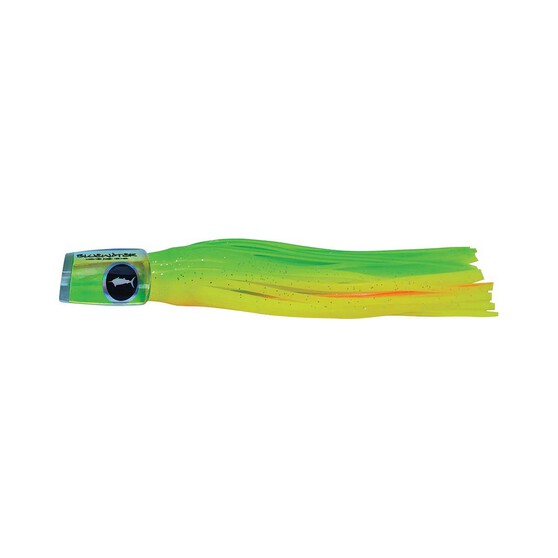 Classic Bluewater Plunger Skirted Lure 6in Chartreuse Orange, Chartreuse Orange, bcf_hi-res
