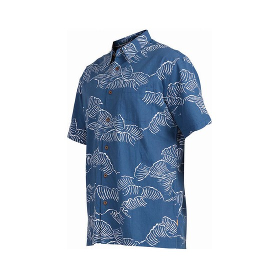 Quiksilver Men's Ocean Sized Short Sleeve Shirt, Ensign Blue, bcf_hi-res