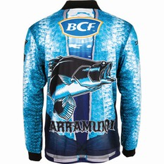BCF Men's Barra Graphic Sublimated Polo Blue S, Blue, bcf_hi-res