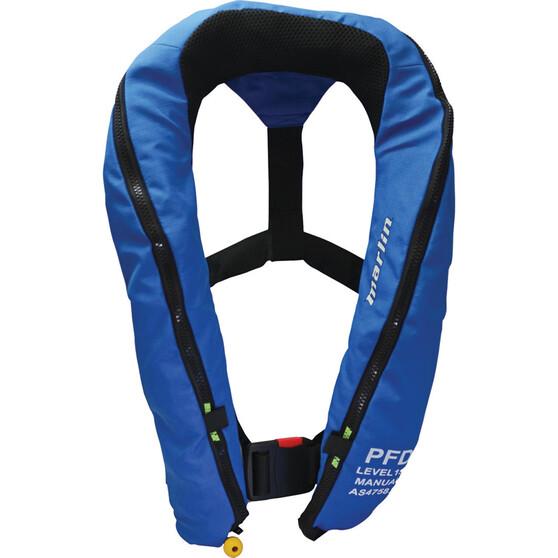 Marlin Australia 360D Manual Inflatable PFD 150 Blue, Blue, bcf_hi-res