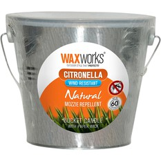 Waxworks Metal Bucket Citronella Candle, , bcf_hi-res