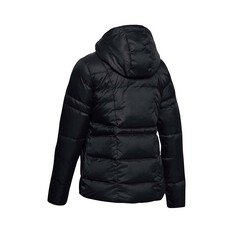 Under Armour Women's Hooded Down Jacket Black / Jet Gray S, Black / Jet Gray, bcf_hi-res