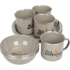 All 4 Adventure 12pc Enamel Dinner Set, , bcf_hi-res