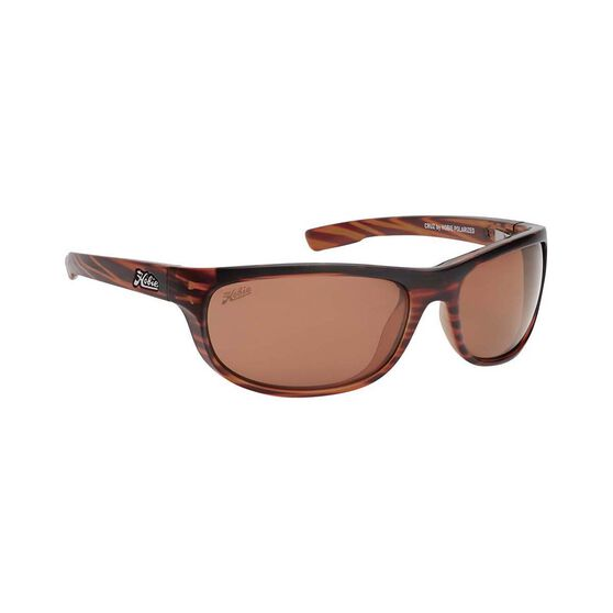 Hobie Cruz Sunglasses - Men's Satin Brown Wood Grain / Copper Lens L, , bcf_hi-res