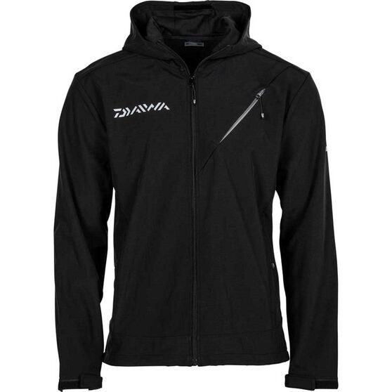 Daiwa Men's Softshell Jacket, Black, bcf_hi-res