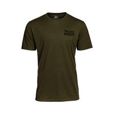 The Mad Hueys Men's Jawsome Short Sleeve UV Tee Army Green S, Army Green, bcf_hi-res