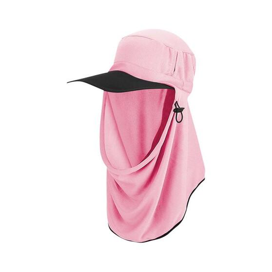 Sunprotection Australia Adapt-a-Cap Hibiscus Pink OSFM, Hibiscus Pink, bcf_hi-res
