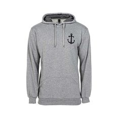 Tide Apparel Men's Aweigh Hoodie Grey Marle S, Grey Marle, bcf_hi-res