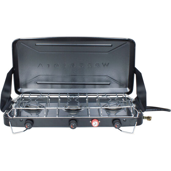 3 Burner LPG Portable Stove with Drip Tray, , bcf_hi-res