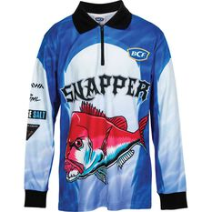 BCF Kids' Snapper Sublimated Polo Blue 8, Blue, bcf_hi-res