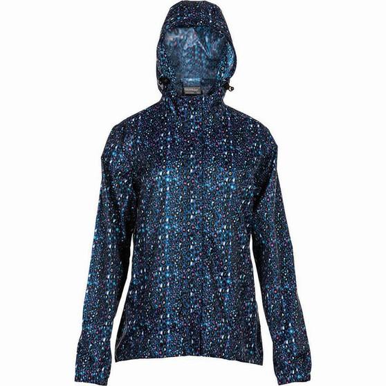 OUTRAK Printed Packaway Rain Jacket, Black Leopard, bcf_hi-res