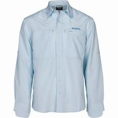 Men's Slim Fit Pro Vented Long Sleeve Shirt Ice S, Ice, bcf_hi-res