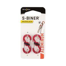 Nite Ize S Biner MicroLock Aluminum 2 Pack Red, , bcf_hi-res