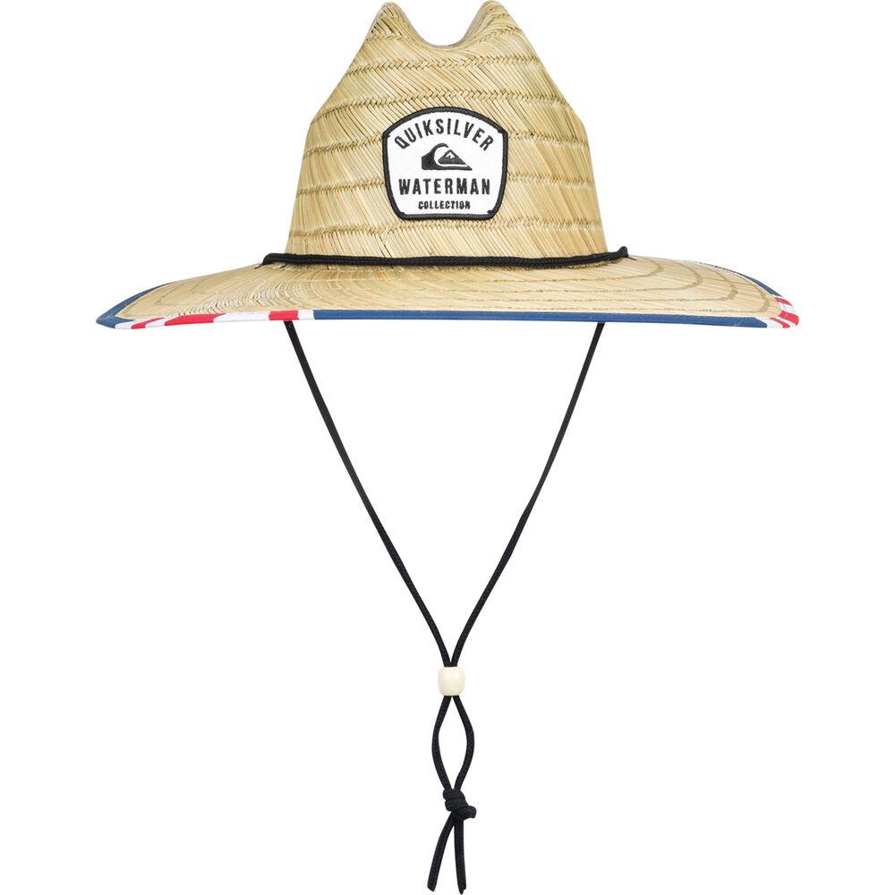 07908bd3792 Quiksilver Men's Outsider Straw Hat Monaco Blue S/M, Monaco Blue, bcf_hi-