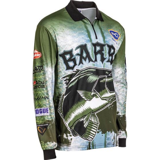 BCF Men's Barra Sublimated Polo Deep Olive M, Deep Olive, bcf_hi-res
