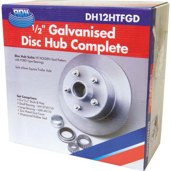 ARK Galvanised Disc Hub to suit Holden HT 0.5in, , bcf_hi-res