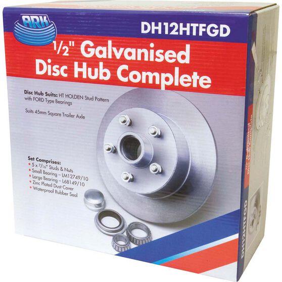 Ark Galvanised Hub - 1 / 2 inch Disc, HT Holden, , bcf_hi-res