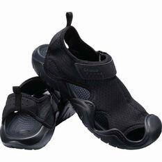 Crocs Men's Swiftwater Sandal Black 7, Black, bcf_hi-res
