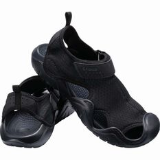 Crocs Men's Swiftwater Sandal Black/Black 7, , bcf_hi-res