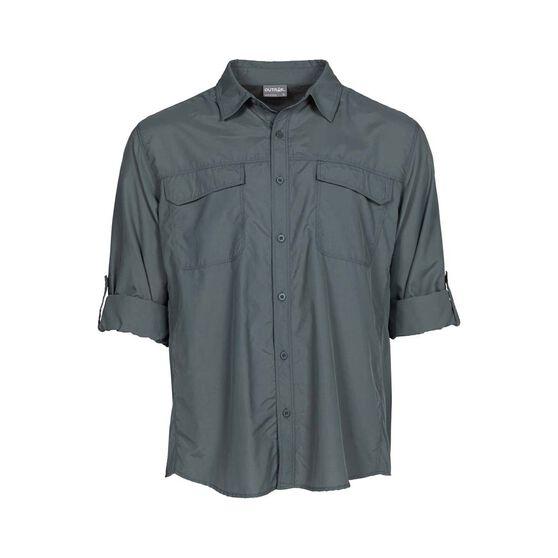 OUTRAK Men's Long Sleeve Hiking Shirt, Sage Grey, bcf_hi-res