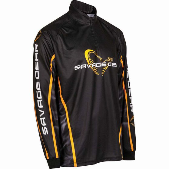 Savage Men's Corporate Sublimated Polo Black M, Black, bcf_hi-res
