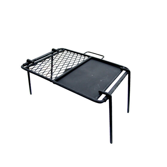 Campfire Mesh Grill and Flat Plate Combo 46x33cm, , bcf_hi-res