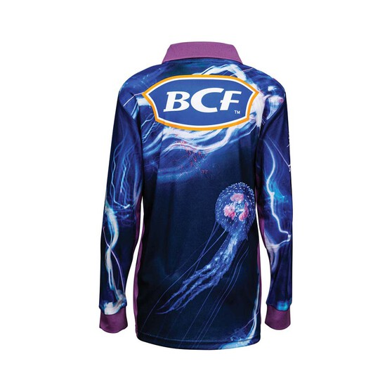 BCF Youth Jellyfish Sublimated Polo, Blue, bcf_hi-res