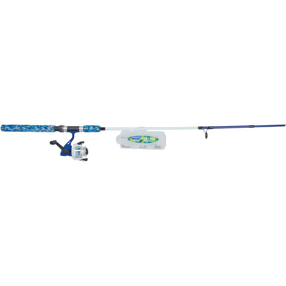 Rogue Kids Spinning Junior Combo Matte Blue 6ft 2in 2pc, Matte Blue, bcf_hi-res