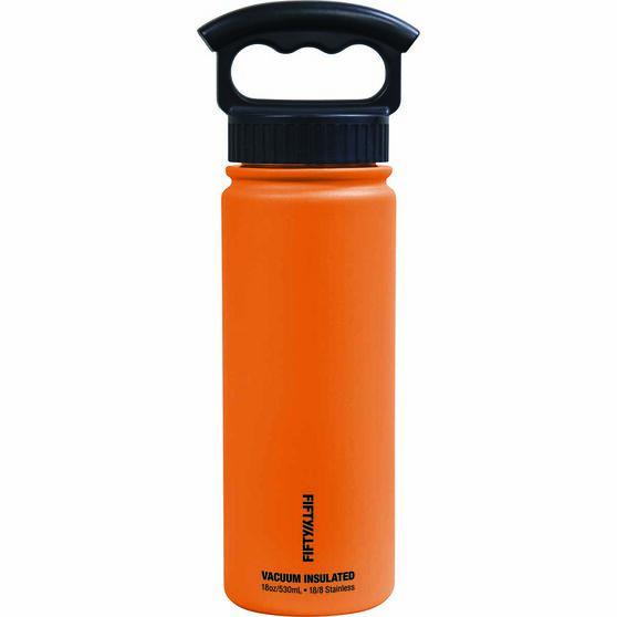 Fifty Fifty Insulated Drink Bottle 530ml Solar Orange 530ml, Solar Orange, bcf_hi-res