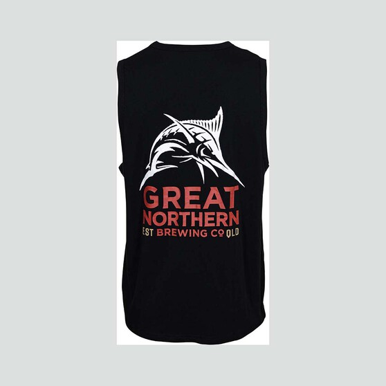 The Great Northern Brewing Co. Men's Tank, Black, bcf_hi-res