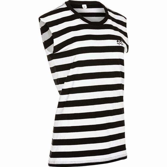 Tide Apparel Women's Stripe Tank Top, Black / White, bcf_hi-res
