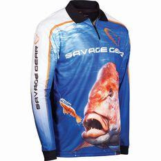 Savage Men's Snapper Sublimated Polo, Blue, bcf_hi-res