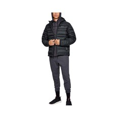 Under Armour Men's Armour Down Hooded Jacket, Black / Pitch Grey, bcf_hi-res