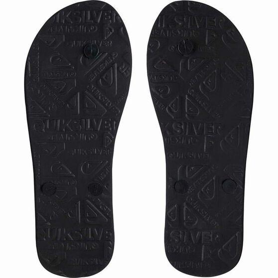 Quiksilver Waterman Men's Molokai Highline Slab Thongs, Black / Grey, bcf_hi-res