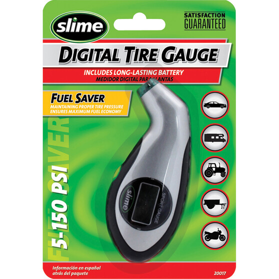 Slime Digital Sport Tyre Gauge - 0-150 PSI, , bcf_hi-res