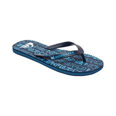 Quiksilver Waterman Men's Molokai Random Thongs Blue 8, Blue, bcf_hi-res