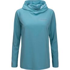 macpac Women's Eyre V2 Long Sleeved Hooded Top Reef 8, Reef, bcf_hi-res