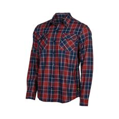 National Geographic Men's Long Sleeve Shirt Red Check S, Red Check, bcf_hi-res