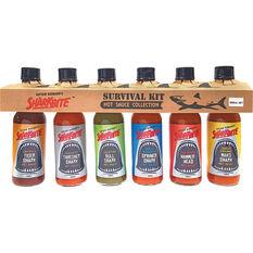 Hatcher Survival Hot Sauce Pack 6x148ml, , bcf_hi-res