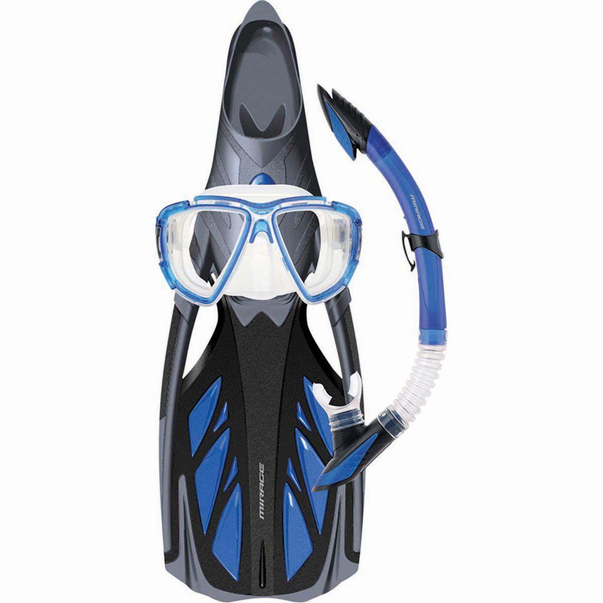 L//XL Flippers ONLY Sizes Mirage Crystal KIDS Snorkel Swim Pool Fins S//M