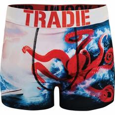 Tradie Men's Olly Octopus Trunk Print S, Print, bcf_hi-res