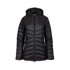 OUTRAK Women's Longline Puffer Jacket Black 8, Black, bcf_hi-res