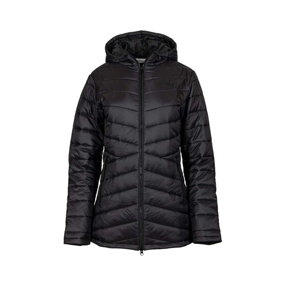OUTRAK Women's Longline Puffer Jacket, Black, bcf_hi-res