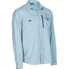 Daiwa Men's Long Sleeve Fishing Shirt Blue S, Blue, bcf_hi-res