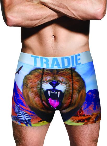Tradie Men's Lenny Lion Trunk, Print, bcf_hi-res